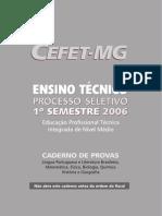 Prova Cefet Mg 2006 1 Integrado