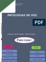 Patologías de voz