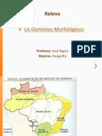 Geografia - Relevo - Os Domínios Morfológicos
