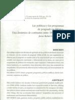 Políticas y programas de posgrado en México