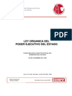 Ley Organica Poder Ejecutivo 2008