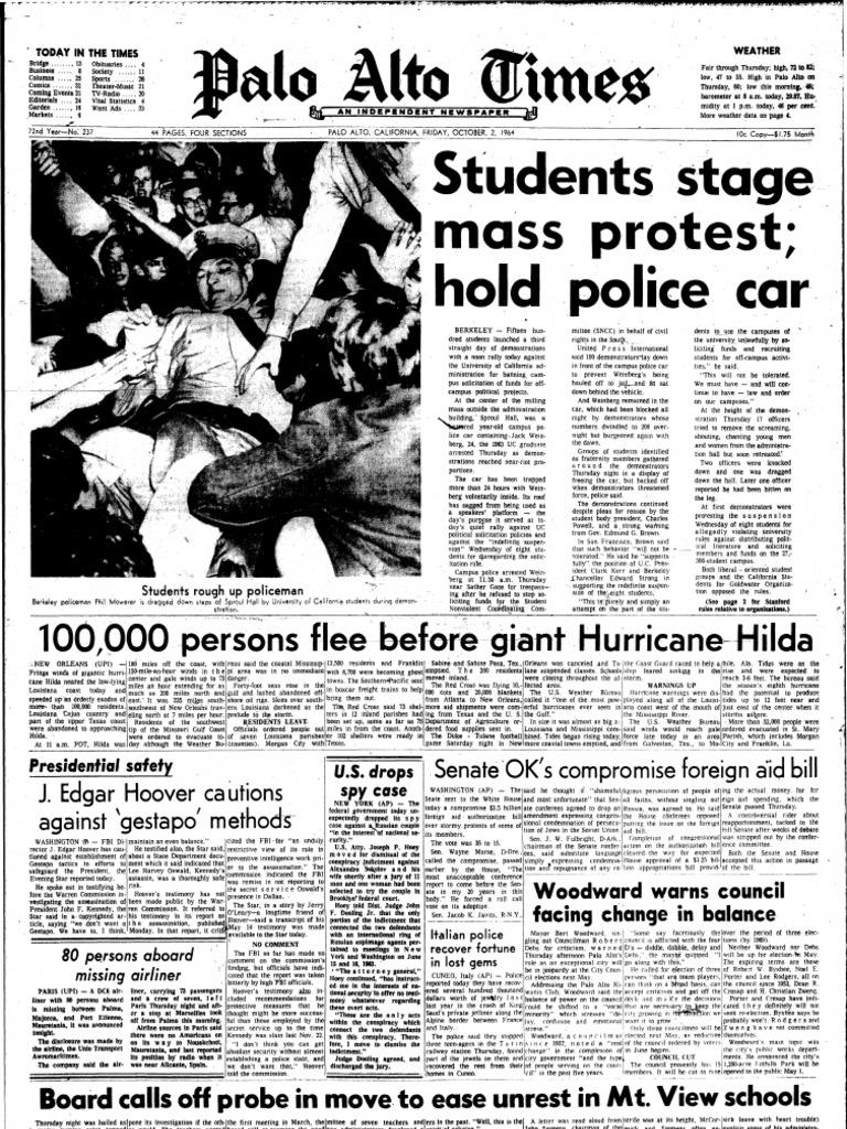 Palo Alto Times For 1964-10-02 | Gulf Coast Of The United States | Louisiana