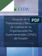 Situacion de la  Transparencia  y Rendicion Cuentas ONG Ecuador 2011