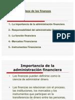 1.- La administración financiera