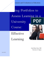 Effective Learning- Using Portfolios to Assess Learning