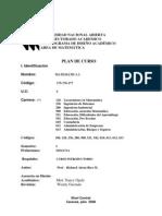Plan de Curso. a I UNA