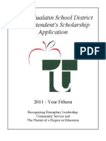 Supt Scholarship Application 2011