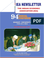 Indian Economic Association 2011 Newsletter