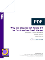 Why the Cloud is Not Killing Off on-Premises Email Sendmail