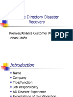 Active Directory Disaster Recovery, Server 2003
