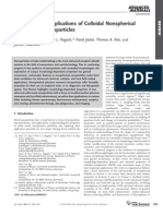 Properties and Applications of Colloidal Non Spherical