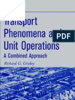 Transport Phenomena and Unit Operations -Griskey