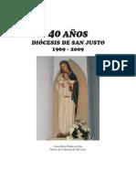 40 Años - Diócesis de San Justo (1969-2009)