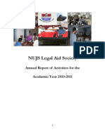 NUJS Legal Aid Society Annual Report for Academic Year 2010-2011.