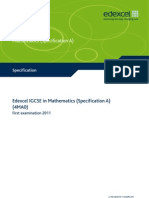 IGCSE2009 Mathematics SpecA (4MA0) Specification