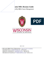 MBA Resume Guide by Wisconsin