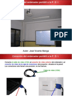 Conexion del Ordenador Portatil a la PDI