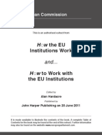 How the EU Institutions Work and... How to work with the EU Institutions Sample Chapter