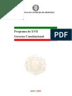 Programa Governo XVII Governo Constitucional