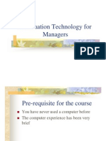 Information Technology for Managers-Course Overview