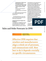 Sales and Order Forecasts in Cpfr
