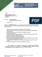 Carta de Presentación ROSSETTI S.A.C - YANACOCHA