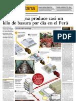 Cada persona produce casi un kilo de basura por día en el Perú