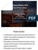 Lecture Notes 11 Design of Plate Girder