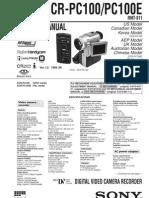 Sony DCR-PC100E Service Manual