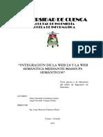 Integración de la Web 2.0 y la Web Semántica mediante Mashups Semánticos; Vázquez-Patiño Angel O., Carmilema Johny