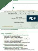 NMISA Pressure & Vacuum TAF 2011 - Scientific Uncertainty Analysis in Pressure (v Ramnath)