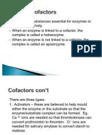 Enzyme Cofactors and Inhibitors