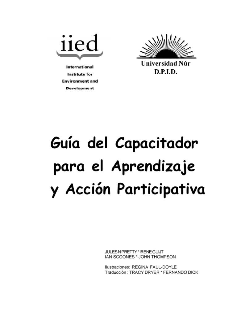 Guía del Capacitador para el Aprendizaje y Acción