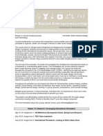 Design for Social Entrepreneurship Syllabus