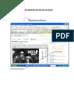 CÓMO MONTAR UN PDF EN UN BLOG