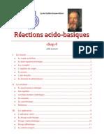 CHIMIE 4 reactions acido basiques
