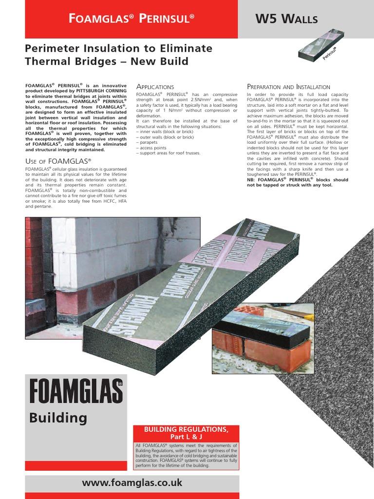 Foamglas Insulating Blocks Brick Wall