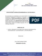 Convocatoria CCS-FISCALIA Sesión extraordinaria No. 009 24-05-11