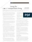 Planning for Independent Living