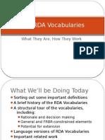 RDA Vocabularies in the Semantic Web by Diane Hillmann