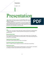 BSW Oral Presentation
