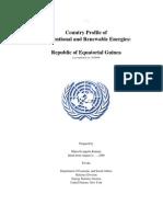 Energy profile for Equatorial Guinea (2006)