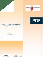 Produccion Aceite Oliva en La Region de Murcia