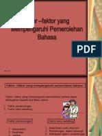 Faktor Pemerolehan Bahasa 2 VJ