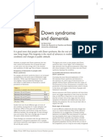 Down syndrome and dementia