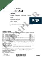 305920 N30681A GCSE History a Paper 1 Exemplar Jun 07 Complete