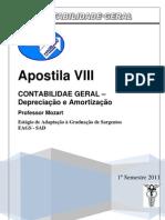 APOSTILA CONTABILIDADE GERAL 08  Depreciação e Amortização blog  2011