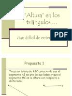 PROYECCIONES -Altura en triángulos -