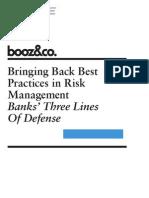 Bringing Back Best Practices in Risk Management