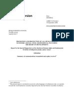 2009. Anaya. Informe de Casos Examinados por el Relator Especial. Período 2008-2009